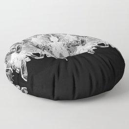 Kryptonite - Black & White Floor Pillow
