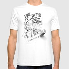 The Eraser Mens Fitted Tee SMALL White