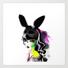 Bunny gone Art Print