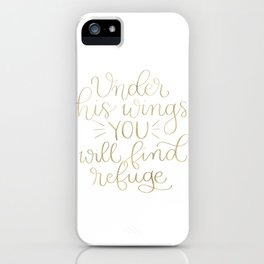 Under His Wings iPhone Case