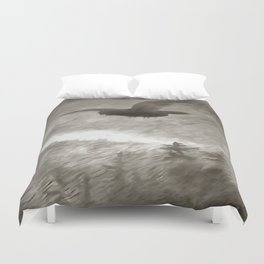 Stealth And Surprise Of The Night Owl Duvet Cover