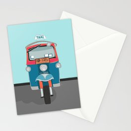 Thailand Tuk Tuk Taxi Travel Poster Stationery Cards