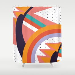 90s Baby Pattern | 1990s Shower Curtain