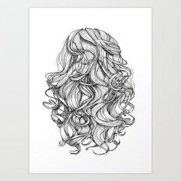 Perfect Curls Art Print