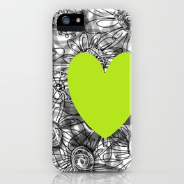 green heart iPhone Case