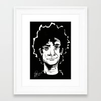 neil gaiman Framed Art Prints featuring NEIL GAIMAN by Simone Bellenoit : Art & Illustration