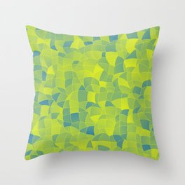 Geometric Shapes Fragments Pattern 2 byi Throw Pillow