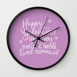 Galentine's Day Wall Clock