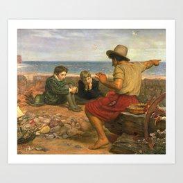 Sir John Everett Millais, Bt 1829–1896   The Boyhood of Raleigh Art Print