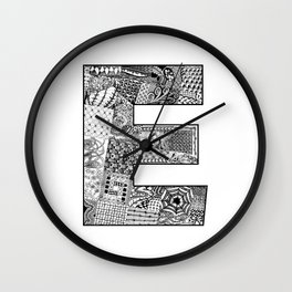 Cutout Letter E Wall Clock