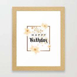 Happy Birthday Card Framed Art Print
