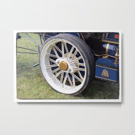 The wheels are turning Metal Print