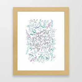 Your Word is a Lamp - Psalm 119:105 Framed Art Print