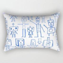 Robot Crowd Rectangular Pillow