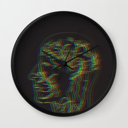 The drawing of human nervous system Wall Clock