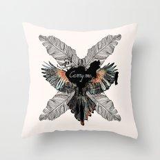 Carry Me Remix Throw Pillow