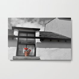 The Windowsill Flowerpot Metal Print