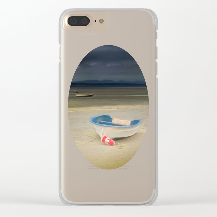 White Storm Clear iPhone Case