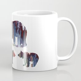 Bear Mother And Cubs Coffee Mug