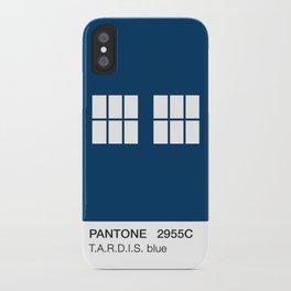 TARDIS Blue Pantone iPhone Case