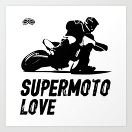Supermoto Love Art Print