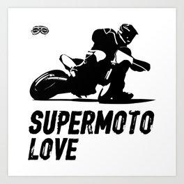 Supermoto Love Art Print