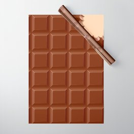 Chocolate Sweet Bar with a bite out of the corner Wrapping Paper