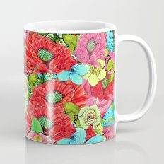 Poppy Floral Greenery Watercolor for SS17 Mug
