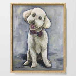 Unique Golden-Doodle Art, Fun Dog Art Serving Tray