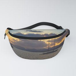 Dramatic Sunset Sky at Arrecife, Lanzarote Fanny Pack