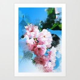 Abstract Cherry Blossom Art Print