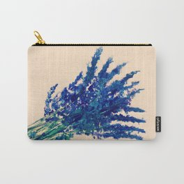 Fresh Cut Lavender Watercolors On Paper Edit Carry-All Pouch
