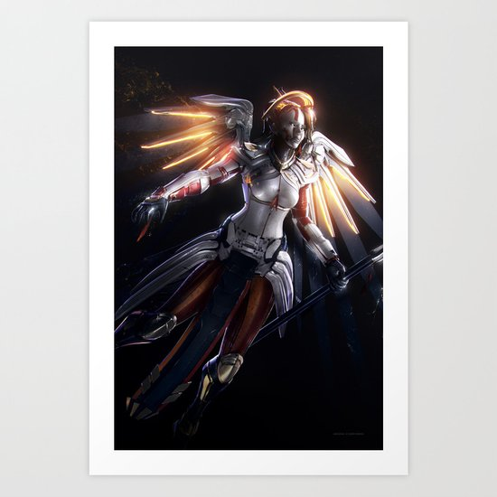 Mercy v2 Art Print