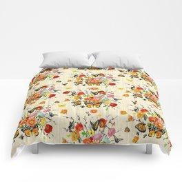 Butterfly Bouquet on Raw Silk Comforters