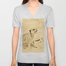 Vintage Animals - Meerkat Unisex V-Neck