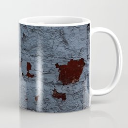 Textured Brick Blue Coffee Mug