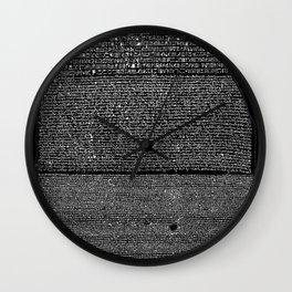 Rosetta Stone Wall Clock