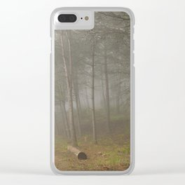 Dream forest. Into the foggy woods. Sierras de Cazorla Clear iPhone Case