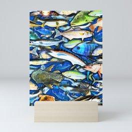 DEEP SALTWATER FISHING COLLAGE Mini Art Print