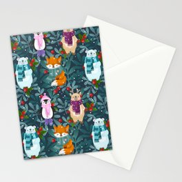 Funny animals. Merry Christmas! Stationery Cards