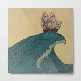 Soaring the Sea Metal Print