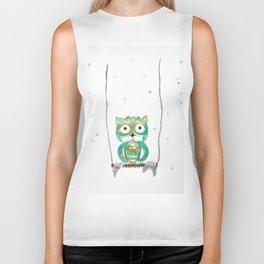 Owl Fun #1 #mint #green #gold #drawing #decor #art #society6 Biker Tank