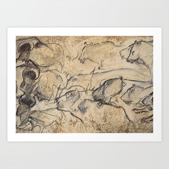 Aurignacian Art Art Print