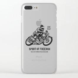 spirit freedom Clear iPhone Case