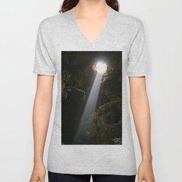 A light in the darkness Unisex V-Neck