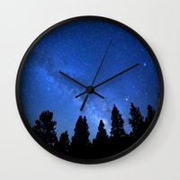 milky way Wall Clocks featuring Milky Way by 2sweet4words Designs
