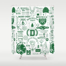 Dartmouth Massachusetts Print Shower Curtain