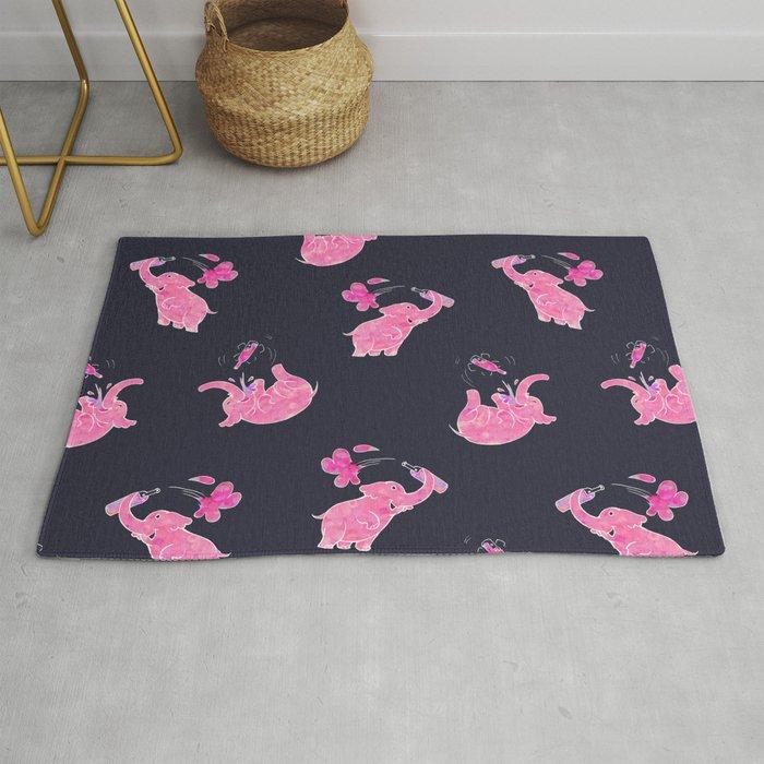 Pink elephant Rug