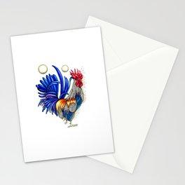 Gallo de las dos lunas Stationery Cards