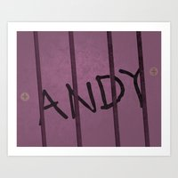 buzz lightyear Art Prints featuring buzz lightyear.. andy's toy by studiomarshallarts